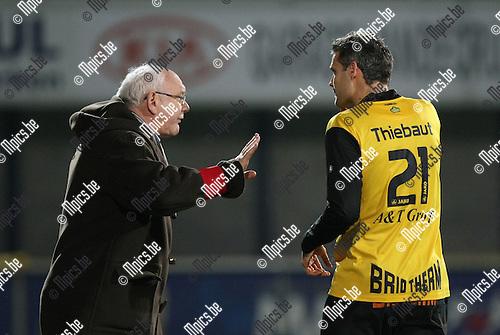 2010-03-20 / Voetbal / seizoen 2009-2010 / K. Lierse SK - KVSK United / Aimé Anthuenis met Gunter Thiebaut..Foto: Mpics
