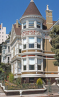 San Francisco: Stick-Eastlake House, California & Franklin.  Photo '78.