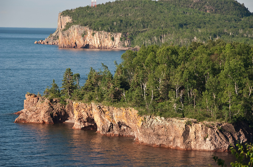 Lake Superior shoreline at Tettegouche State Park in northern Minnesota.