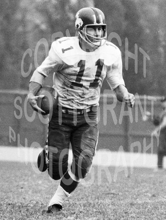 Ron Stewart Ottawa Rough Riders 1963. Copyright photograph Ted Grant