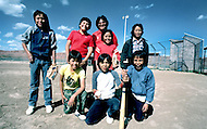 May 6th to 13th, 1985 in Navajo Reserve, AZ. Kids in the street of Window Rock, AZ.