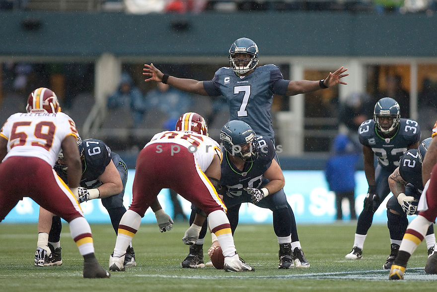 TAVARIS JACKSON, of the Seattle Seahawks, in action during Seattle's game against the Washington Redskins on November 27, 2011 at CenturyLink Field in Seattle, WA. Washington beat Seattle 23-17.