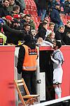 03.11.2018, BayArena, Leverkusen, GER, 1. FBL,  Bayer 04 Leverkusen vs. TSV 1899 Hoffenheim,<br />  <br /> DFL regulations prohibit any use of photographs as image sequences and/or quasi-video<br /> <br /> im Bild / picture shows: <br /> Leonardo Bittencourt (Hoffenheim #13),  begruesst nach dem Spiel alte Freunde aus koelner Zeiten,, <br /> Foto &copy; nordphoto / Meuter