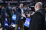 WINSTON-SALEM, NC - FEBRUARY 24: Notre Dame assistant coach Rod Balanis. The Wake Forest University Demon Deacons hosted the University of Notre Dame Fighting Irish on February 24, 2018 at Lawrence Joel Veterans Memorial Coliseum in Winston-Salem, NC in a Division I men's college basketball game. Notre Dame won the game 76-71.