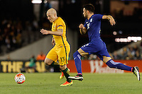 June 7, 2016: AARON MOOY (13) of Australia runs with the ball during an international friendly match between the Australian Socceroos and Greece at Etihad Stadium, Melbourne. Photo Sydney Low