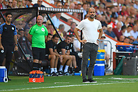 Manchester City Manager Pep Guardiola watches play during AFC Bournemouth vs Manchester City, Premier League Football at the Vitality Stadium on 25th August 2019