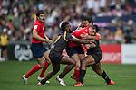 Chile vs Papua New Guinea during the HSBC Hong Kong Rugby Sevens 2016 on 08 April 2016 at Hong Kong Stadium in Hong Kong, China. Photo by Li Man Yuen / Power Sport Images