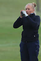 Celine Brovold Sanne (NOR) on the 1st fairway during Round 1 of the Irish Girls U18 Open Stroke Play Championship at Roganstown Golf &amp; Country Club, Dublin, Ireland. 05/04/19 <br /> Picture:  Thos Caffrey / www.golffile.ie