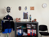The office of Capitaine Duthoit, Commander of the Gendarmerie in Pont-de-Marcq.
