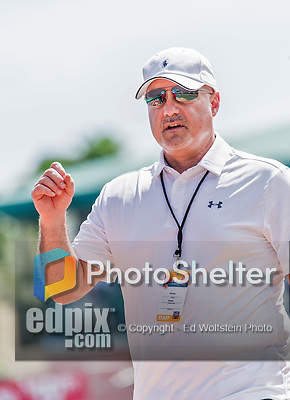 10 March 2015: Washington Nationals General Manager & President of Baseball Operations Mike Rizzo watches batting practice prior to a Spring Training game against the Miami Marlins at Roger Dean Stadium in Jupiter, Florida. The Marlins edged out the Nationals 2-1 on a walk-off solo home run in the 9th inning of Grapefruit League play. Mandatory Credit: Ed Wolfstein Photo *** RAW (NEF) Image File Available ***