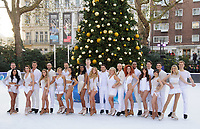 "Contestants and Professionals<br /> at the ""Dancing on Ice"" launch photocall, natural History Museum, London<br /> <br /> <br /> ©Ash Knotek  D3365  19/12/2017"