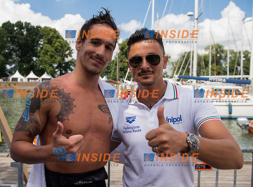 VANELLI Federico ITA silver medal<br /> Hoorn, Netherlands <br /> LEN 2016 European Open Water Swimming Championships <br /> Open Water Swimming<br /> Men's 5km<br /> Day 02 12-07-2016<br /> Photo Giorgio Perottino/Deepbluemedia/Insidefoto