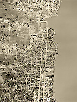 historical aerial photograph of Lakeport,CA, 1956