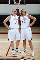 STANFORD, CA - SEPTEMBER 28:  Mikaela Ruef and Joslyn Tinkle during picture day on September 28, 2009 at Maples Pavilion in Stanford, California.