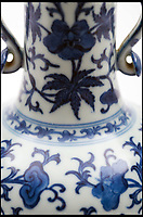 BNPS.co.uk (01202 558833)<br /> Pic:  BearnesHampton&Littlewood/BNPS<br /> <br /> A woman who kept a Chinese vase in a box in her attic for over 20 years is celebrating today after it sold for nearly £600,000.<br /> <br /> The blue and white porcelain piece had been given to the lucky owner in the 1990s by an elderly auntie who had it on her hallway table for years.<br /> <br /> The late Annie Glover had herself been gifted it when she worked as a teacher in Shanghai in the early 20th century.<br /> <br /> Her niece, who is not being named, has now sold it through Devon auctioneers Bearnes, Hampton and Littlewood.