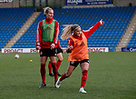 Leandra Little and Olivia Ferguson of Sheffield Utd during the The FA Women's Championship match at the Proact Stadium, Chesterfield. Picture date: 8th December 2019. Picture credit should read: Simon Bellis/Sportimage