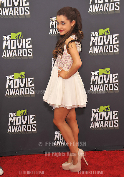 Ariana Grande at the 2013 MTV Movie Awards at Sony Studios, Culver City..April 14, 2013  Los Angeles, CA.Picture: Paul Smith / Featureflash