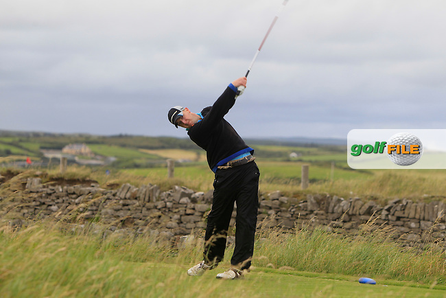 Sean Poucher (Limerick) on the 17th tee during Round 1 of the South of Ireland Amateur Open Championship at LaHinch Golf Club on Wednesday 22nd July 2015.<br /> Picture:  Golffile | Thos Caffrey