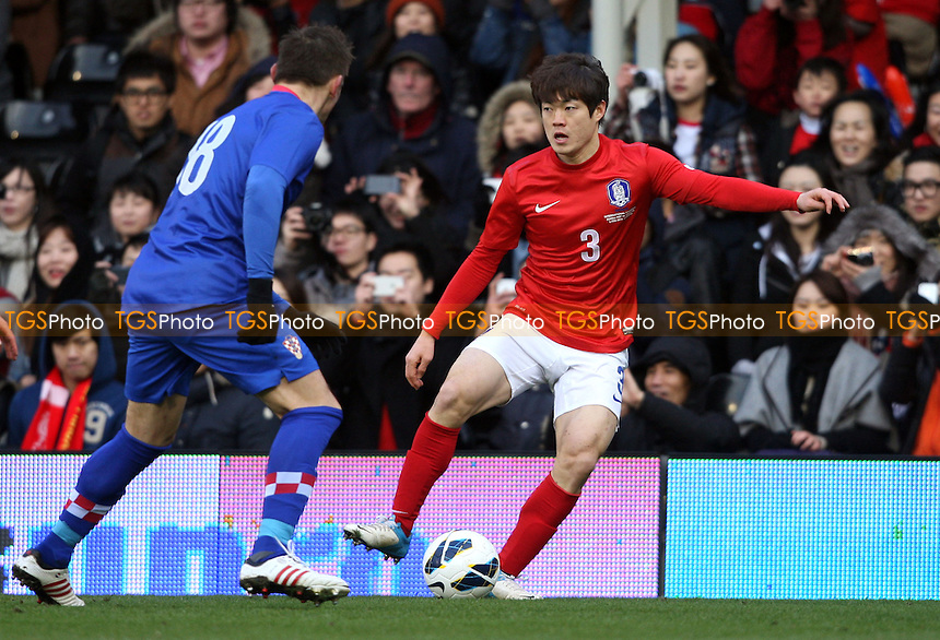 Kwanghoon Shin of Korea Republic - Croatia vs Korea Republic, International Friendly at Craven Cottage, London - 06/02/13 - MANDATORY CREDIT: Rob Newell/TGSPHOTO - Self billing applies where appropriate - 0845 094 6026 - contact@tgsphoto.co.uk - NO UNPAID USE.