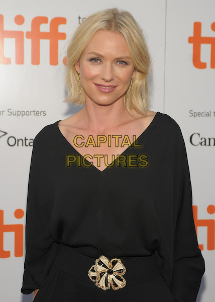NAOMI WATTS .'Mother And Child' Premiere held at Roy Thomson Hall during the 2009 Toronto International Film Festival,  Toronto, Ontario, Canada, 14th September 2009..half length catsuit jumpsuit waist belt buckle gold v-neck  dress .CAP/ADM/BPC.©Brent Perniac/Admedia/Capital Pictures