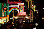 Nevada: Reno,  noted sign on Virginia Street, downtown, at night. Photo: nvre20101  .Photo copyright Lee Foster, www.fostertravel.com, 510/549-2202,  lee@fostertravel.com