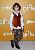 Actor August Maturo at the premiere for &quot;Gifted&quot; at The Grove. Los Angeles, USA 04 April  2017<br /> Picture: Paul Smith/Featureflash/SilverHub 0208 004 5359 sales@silverhubmedia.com
