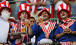 12 June 2006: U.S. fans. The Czech Republic defeated the United States 3-0 at Veltins Arena in Gelsenkirchen, Germany in match 10, a Group E first round game, of the 2006 FIFA World Cup.