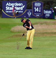 Ian Poulter plays on to the 18th  during the preview of the Aberdeen Standard Investments Scottish Open, Renaissance Club, North Berwick, East Lothian, Scotland. 11/07/2019.<br /> Picture Kevin McGlynn / Golffile.ie<br /> <br /> All photo usage must carry mandatory copyright credit (© Golffile | Kevin McGlynn)