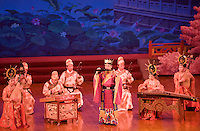 Musicians performing in the Tang Dance Show, Shaanxi Grand Opera House, Xian, China