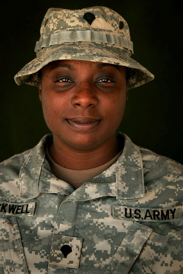 Specialist Maureen Blackwell, 27, San Diego, CA, Patient Administration, Charlie Medical Company 501st Field Support Battalion 1st Brigade 1st Armored Division taken at the company's medical facility at Camp Ramadi, Iraq on Saturday Sept. 30, 2006.
