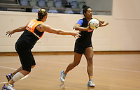 06.10.2014 Silver Fern Temalisi Fakahokotau in action at the Silver Ferns training ahead of the netball test match againt Australia in Melbourne. Mandatory Photo Credit ©Michael Bradley.