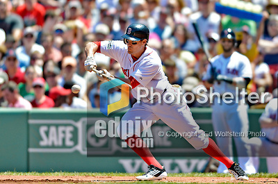 10 June 2012: Boston Red Sox outfielder Scott Podsednik in action against the Washington Nationals at Fenway Park in Boston, MA. The Nationals defeated the Red Sox 4-3 to sweep their 3-game interleague series. Mandatory Credit: Ed Wolfstein Photo