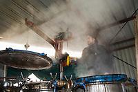 Europe/France/Midi-Pyrénées/81/Tarn/ Villleneuve-sur-Vère:  Distillation à l'alambic chez Laurent Cazottes, bouilleur de cru - Le Tonneau des Saveurs [Non destiné à un usage publicitaire - Not intended for an advertising use]