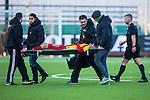 Södertälje 2013-03-31 Fotboll Allsvenskan , Syrianska FC - Kalmar FF :  .Syrianska 7 Robert Massi bärs ut på bår efter att ha skadat sig.( Foto: Kenta Jönsson )  Nyckelord: