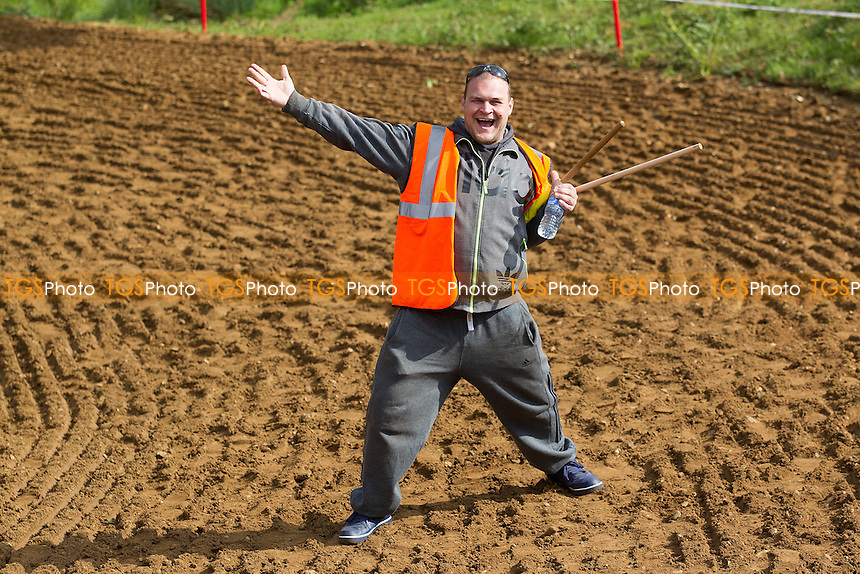 The track looks great, I feel great  - during ACU Eastern Centre MX Round Three at Blaxhall MX Circuit on 15th May 2016