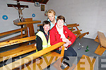 Drug users out: Jackie O'Connor, (FAS CE worker) with Julie Gleeson and Mary Hanlon of Listowel Tidy Towns who were left to clean up the Teampeal Ban famine graveyard chapel in the town which is being abused by drug users and drinkers.   Copyright Kerry's Eye 2008