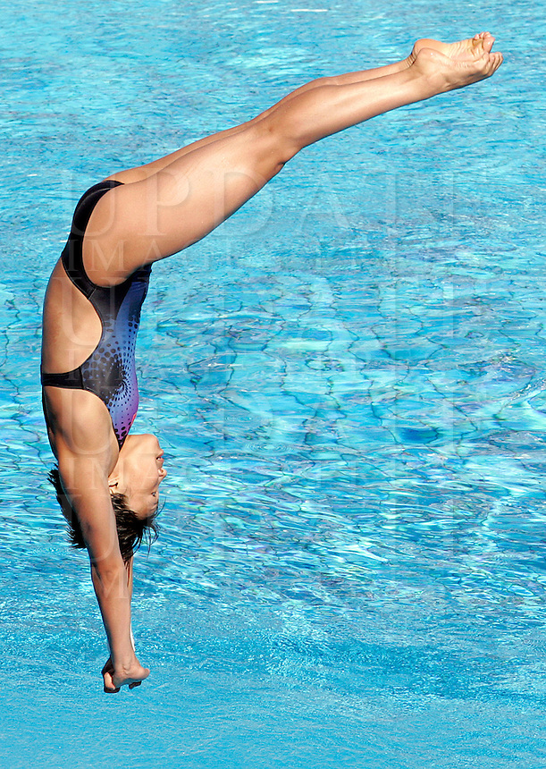 China's Hang Wan competes in the women's 1m springboard diving finals at the Swimming World Championships in Rome, 19 July 2009..UPDATE IMAGES PRESS/Riccardo De Luca
