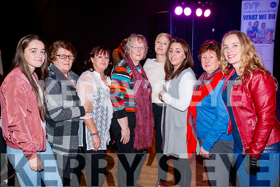 Lauren Sinnott, Maura Healy Nora Lewis, Mary Sinnott and Sharon Keaney, Gillian Lewis Margaret Murphy and Lisa Sinnott, pictured at the St. Vincent De Paul Fashion Show, at Ballyroe Heights Hotel, Tralee, on Thursday, November 23rd last.