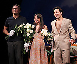 Michael Shannon, Kate Arrington, and Paul Rudd  during the Opening Night Performance Curtain Call for 'Grace' at the Cort Theatre in New York City on 10/4/2012.