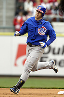 03 April 2006: Chicago Cubs' Matthew Murton runs the bases against the Cincinnati Red's during the Reds' home opener at Great American Ballpark in Cincinnati, Ohio.<br />