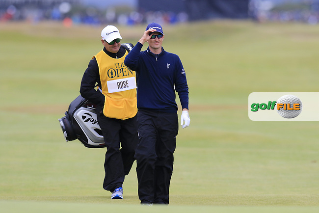 Justin Rose (ENG) walks to the 17th green during Monday's Final Round of the 144th Open Championship, St Andrews Old Course, St Andrews, Fife, Scotland. 20/07/2015.<br /> Picture Eoin Clarke, www.golffile.ie