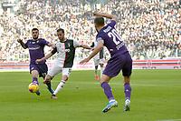 2nd February 2020; Allianz Stadium, Turin, Italy; Serie A Football, Juventus versus Fiorentina; Patrick Cutrone of Fiorentina challenges Miralem Pjanic of Juventus as he prepares to shoot