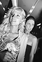 Paris Hilton and Nicki Hilton at the opening party for the Sean John store in New York City, 2004