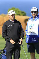 Graeme McDowell (NIR) and caddy Ken Comboy on the 6th green of Monterey Peninsula CC during Saturday's Round 3 of the 2018 AT&amp;T Pebble Beach Pro-Am, held over 3 courses Pebble Beach, Spyglass Hill and Monterey, California, USA. 10th February 2018.<br /> Picture: Eoin Clarke | Golffile<br /> <br /> <br /> All photos usage must carry mandatory copyright credit (&copy; Golffile | Eoin Clarke)