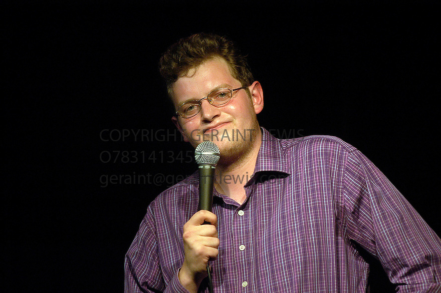 Miles Jupp , commedian and actor performing stand up at the Edinburgh Festival   CREDIT Geraint Lewis