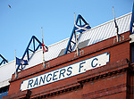Flags flying at half-mast over Ibrox Stadium following the death of ex-player Ian Redford