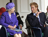 Queen Elizabeth II & Prince William attend the 2005 Braemar Highland Gathering..Picture: UK Press