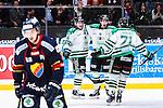 Stockholm 2014-03-27 Ishockey Kvalserien Djurg&aring;rdens IF - R&ouml;gle BK :  <br /> R&ouml;gles Daniel Sylwander har kvitterat till 3-3 och jublar med R&ouml;gles Jesper Jensen och R&ouml;gles Mathias Tj&auml;rnqvist <br /> (Foto: Kenta J&ouml;nsson) Nyckelord:  DIF Djurg&aring;rden R&ouml;gle RBK Hovet jubel gl&auml;dje lycka glad happy