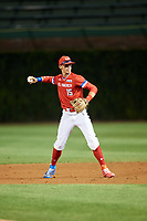 Bobby Witt, Jr. (15) of Colleyville Heritage High School in Colleyville, Texas during the Under Armour All-American Game presented by Baseball Factory on July 29, 2017 at Wrigley Field in Chicago, Illinois.  (Mike Janes/Four Seam Images)