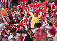 Arsenal fans celebrate during the FA Cup Final match between Arsenal v Chelsea, Wembley stadium, London on 27th May 2017